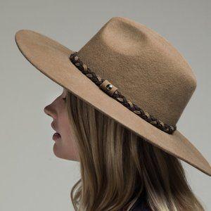 New Pecan Wool Panama Hat and Braid